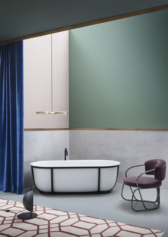 Kolor w łazience.