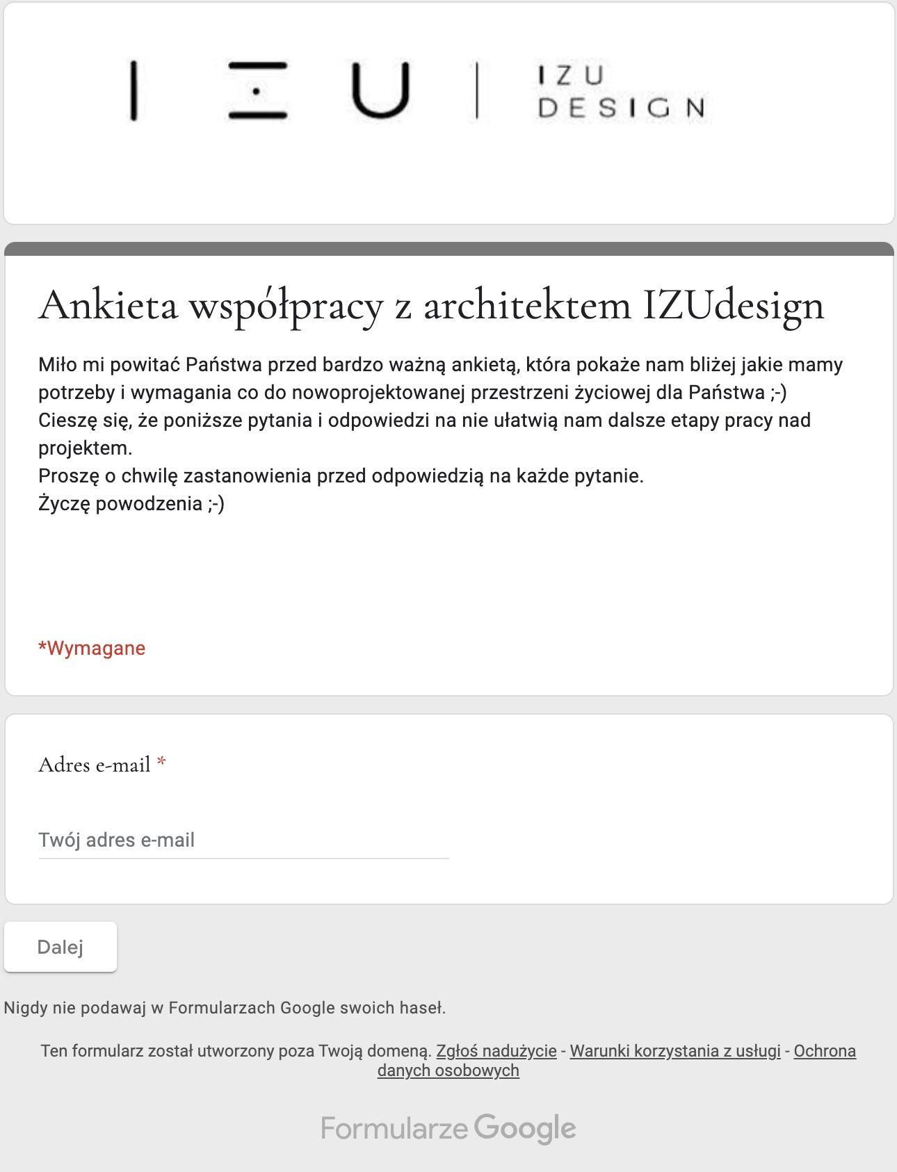 Ankieta dot. współpracy z IZU